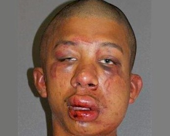 Cops: Dad beats man found raping son