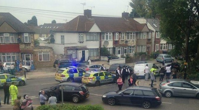 Woman 'beheaded' at house in north London as 'man goes on the loose with machete'