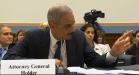 Eric Holder Finger Point